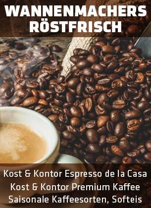 Frischer Kaffee und Gebäck von Wannenmachers Röstfrisch
